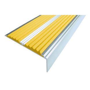 Алюминиевый угол-порог с 2-мя противоскользящими вставками
