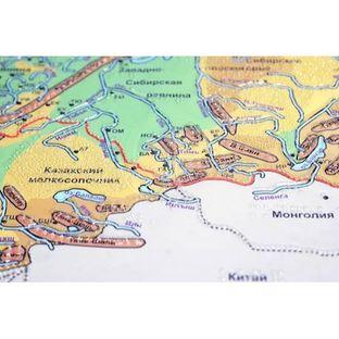 Физическая карта Российской Федерации