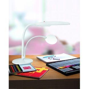 Настольная лампа с лупой Лебедь