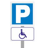 Дорожный знак Парковка для инвалидов. Полный комплект для установки