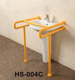 Поручень HS-004P U-образный для умывальников с креплением к полу