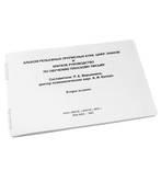 Альбом рельефных прописных букв, цифр, знаков и краткое руководство по обучению плоскому письму