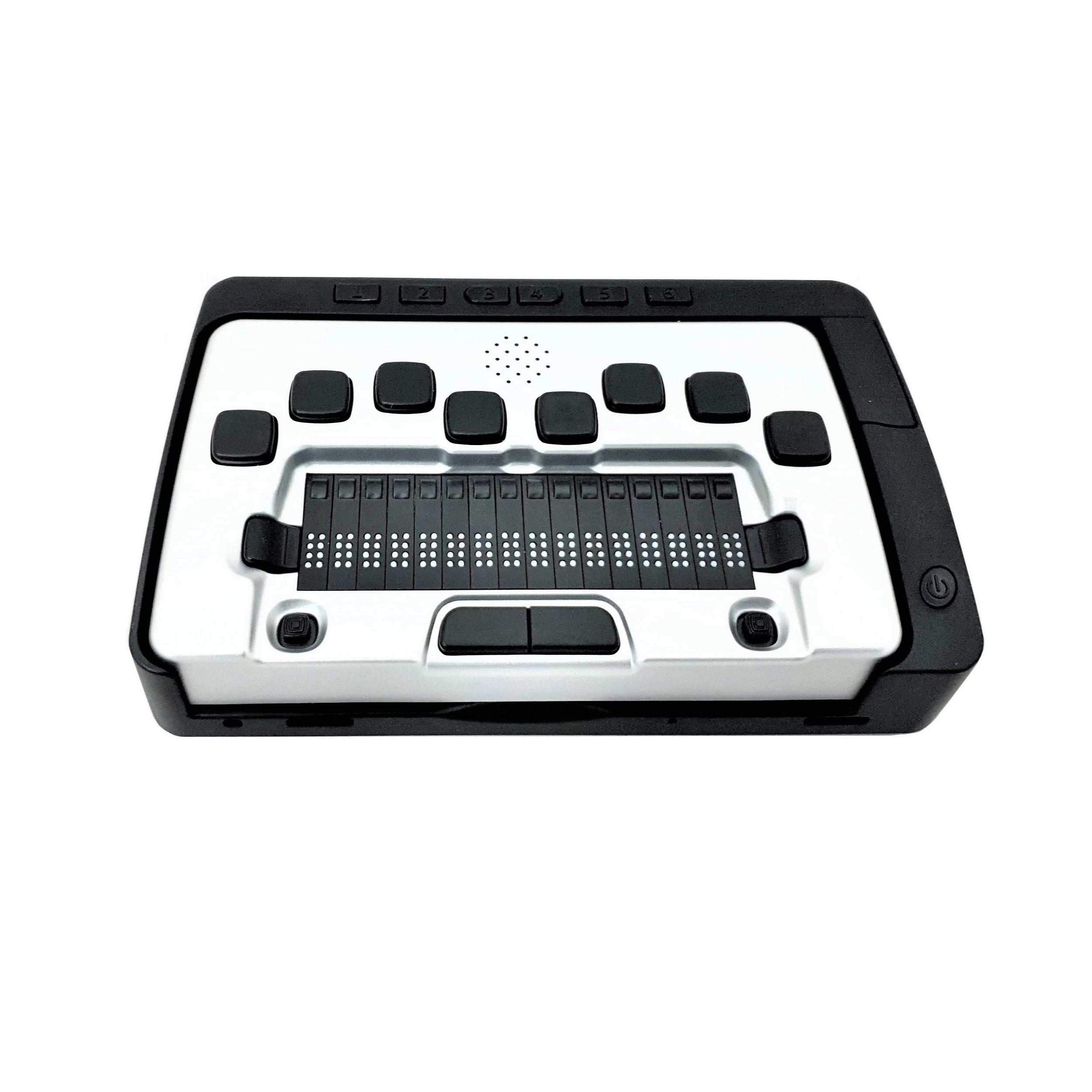 Портативный компьютер с вводом/выводом шрифтом Брайля и синтезатором речи Дактило