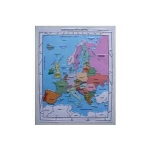 Политическая административная карта Европы с краткой справкой о странах