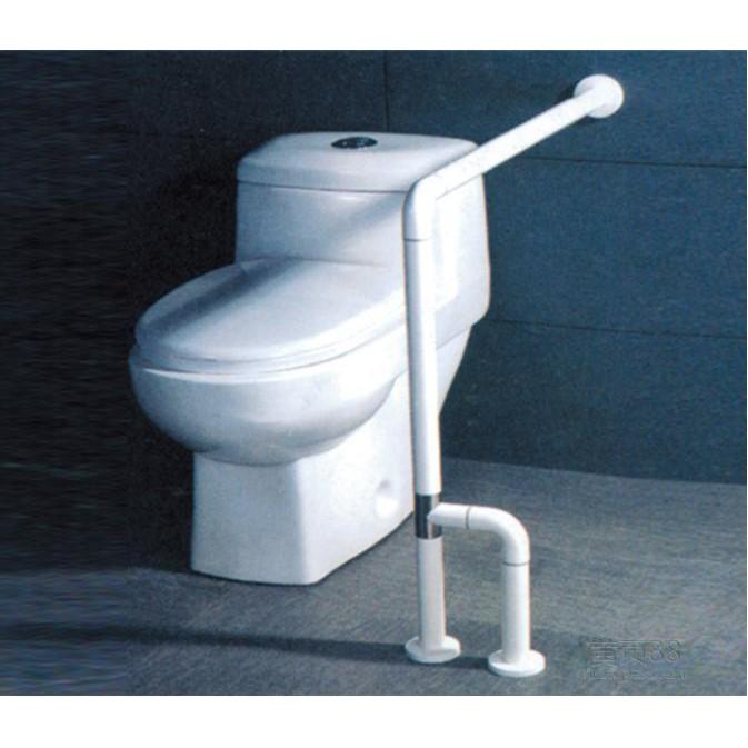 Поручень HS-028 угловой для туалетов/писсуаров с креплением к полу