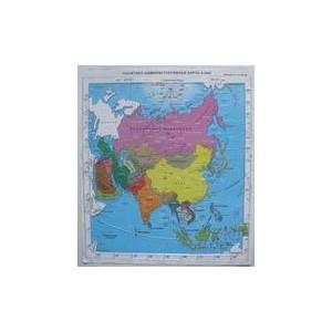 Политическая административная карта Азии с краткой справкой о странах