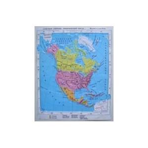 Политические карты Северной и Центральной Америки